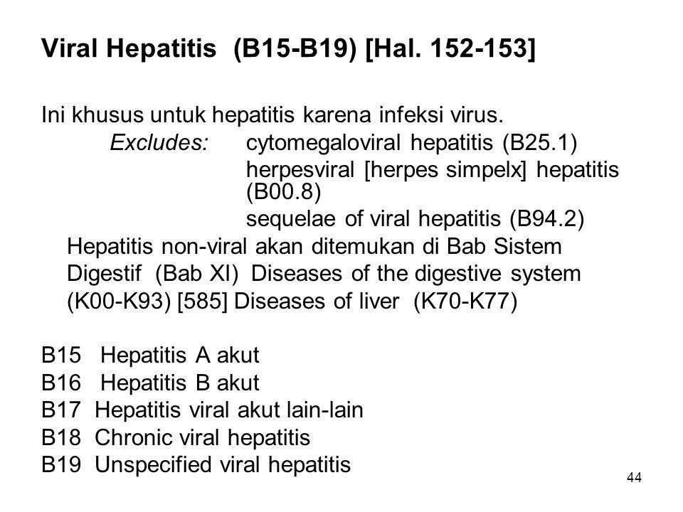 Viral Hepatitis (B15-B19) [Hal. 152-153]